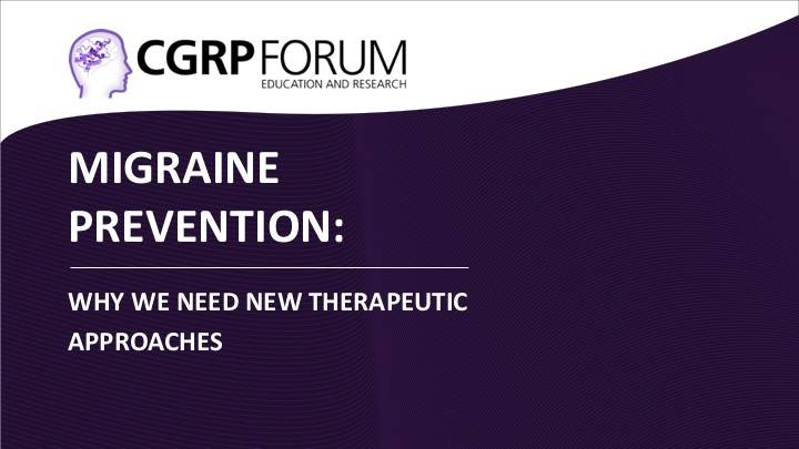Migraine prevention: Why we need new therapeutic approaches